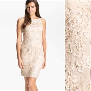 Sue Wong Embroidery Cocktail Ivory Dress Sz. 10